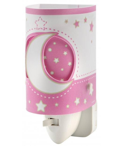 Детский ночник в розетку Dalber MOONLIGHT Pink 63235LS