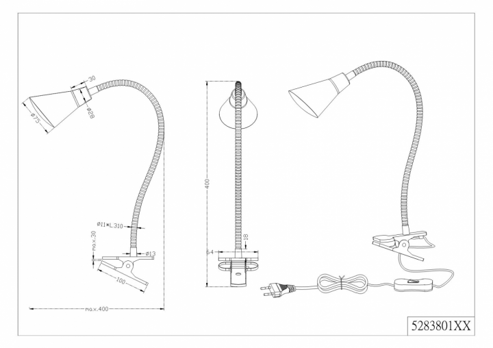 Настільна лампа TRIO PRETO 528380107