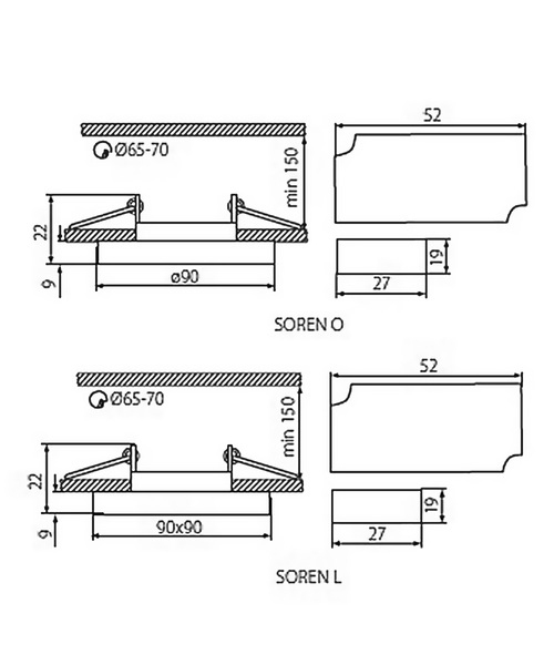 Точковий світильник Kanlux SOREN O-GN 24412