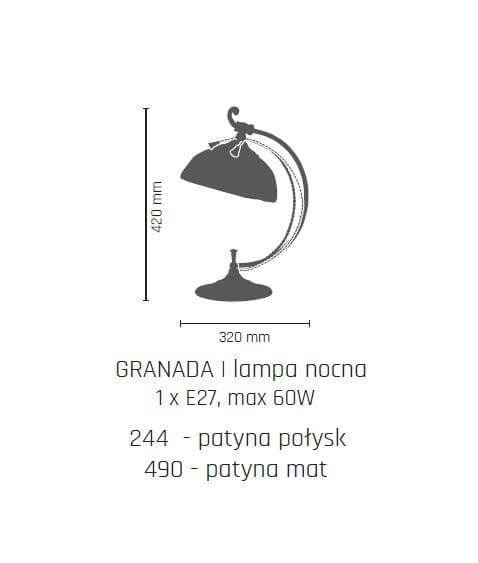 Настільна лампа Amplex GRANADA 490