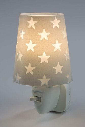 Детский ночник в розетку Dalber Stars Grey 81215E