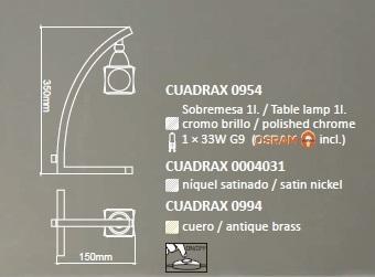 Настільна лампа Mantra CUADRAX 0954