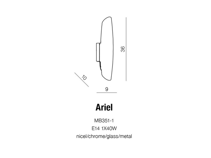 Бра AZzardo ARIEL AZ0264 (MB3511)