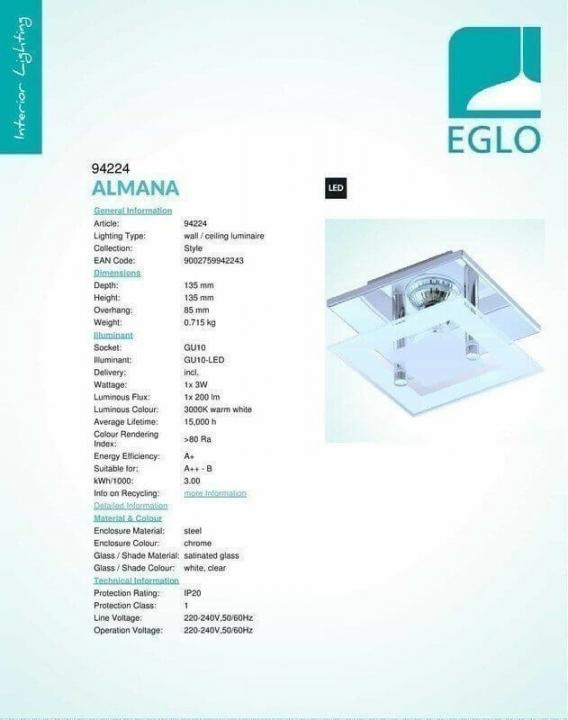 Бра Eglo ALMANA 94224