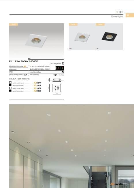 Точечный светильник AZzardo FILL S 5W 3000K AZ3379