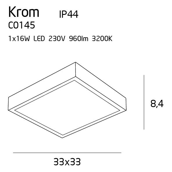 Потолочный светильник Maxlight KROM C0145