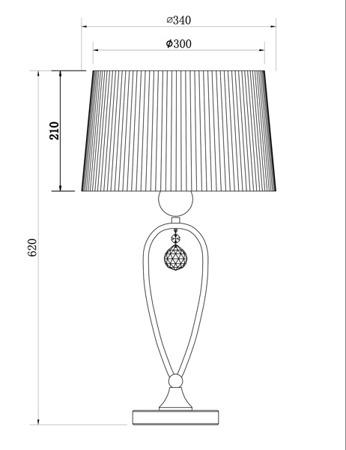 Настільна лампа Zuma Line BELLO RLT93224-1B