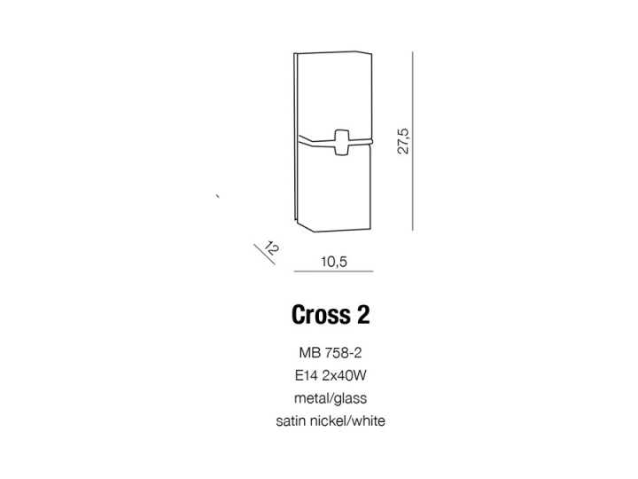 Бра AZzardo CROSS 2 AZ0085 (MB7582SNWH )