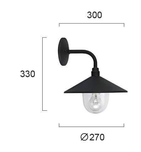 Настінний вуличний світильник Viokef PILOS 4178200