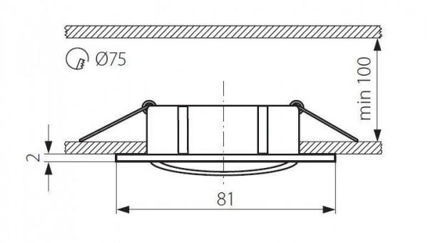 Точечный светильник Kanlux NAVI CTX-DT10-W 2550