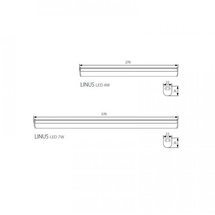 Мебельная подсветка Kanlux LINUS LED 4W-NW 27590