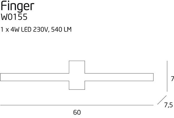 Бра Maxlight FINGER W0155