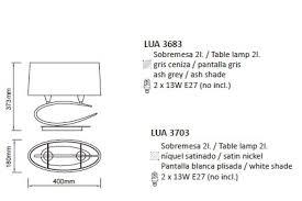 Настільна лампа Mantra Lua 3703