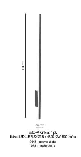 Бра Amplex EBORA 0645