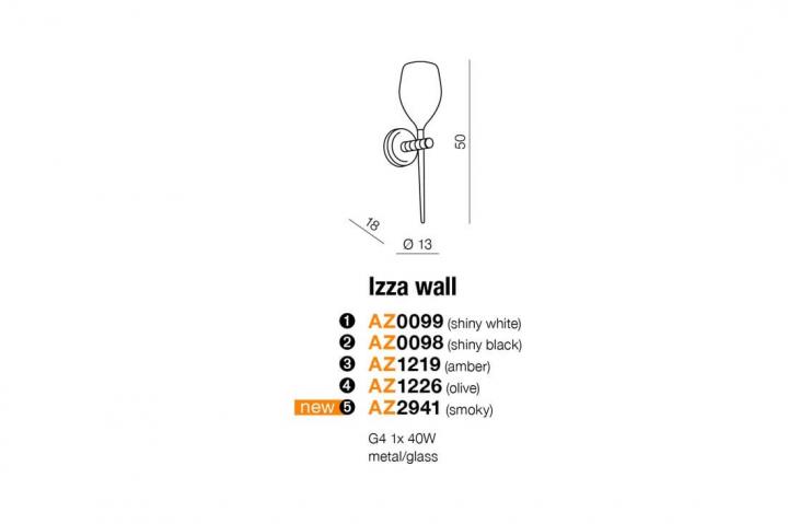 Бра AZzardo IZZA AZ0098 (MB12881SBK)