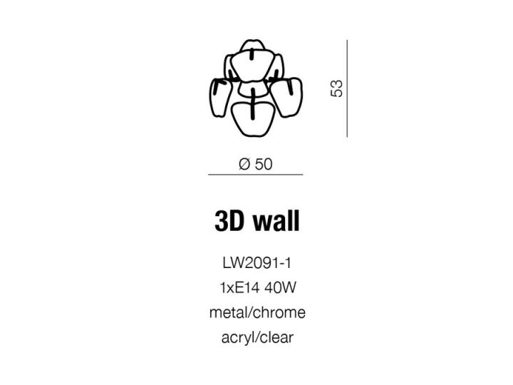 Бра AZzardo 3D AZ0979 (LW20911CHCL )