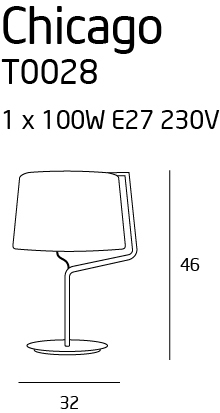 Настільна лампа Maxlight CHICAGO T0029