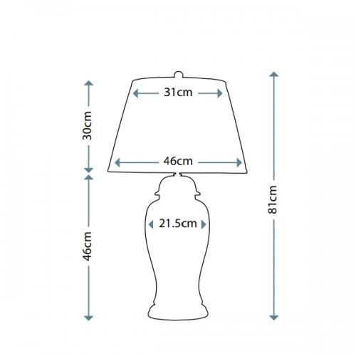Настільна лампа Elstead IVORY CRACKLE SMALL IVORY CRA SM/TL