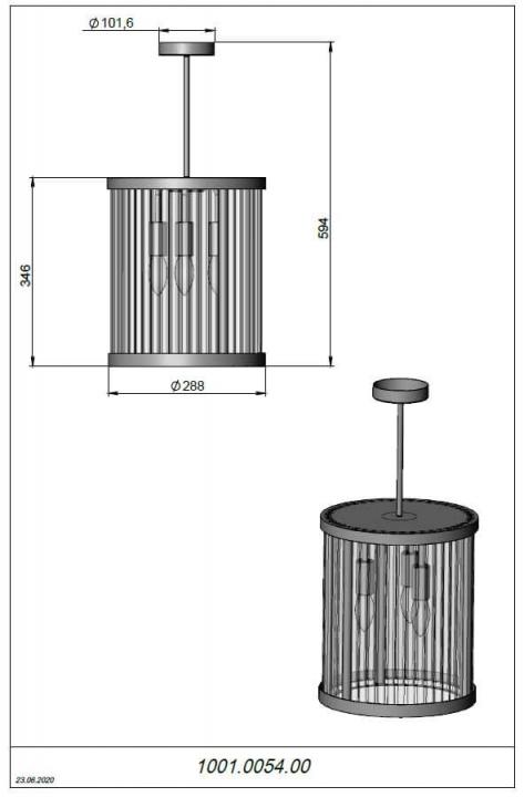 Люстра Pikart GL Tubes 23528