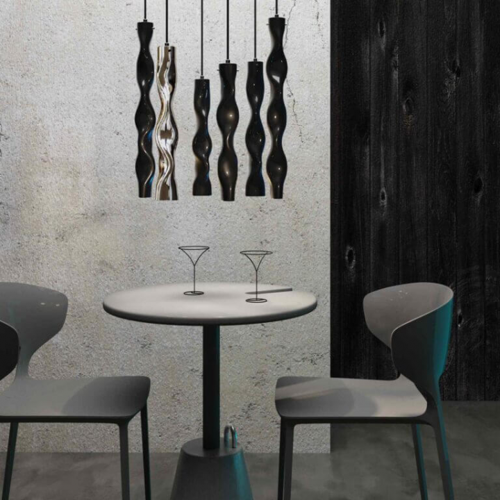 Люстра Ceramika Design WAVY SAPPHIRE 25075-17