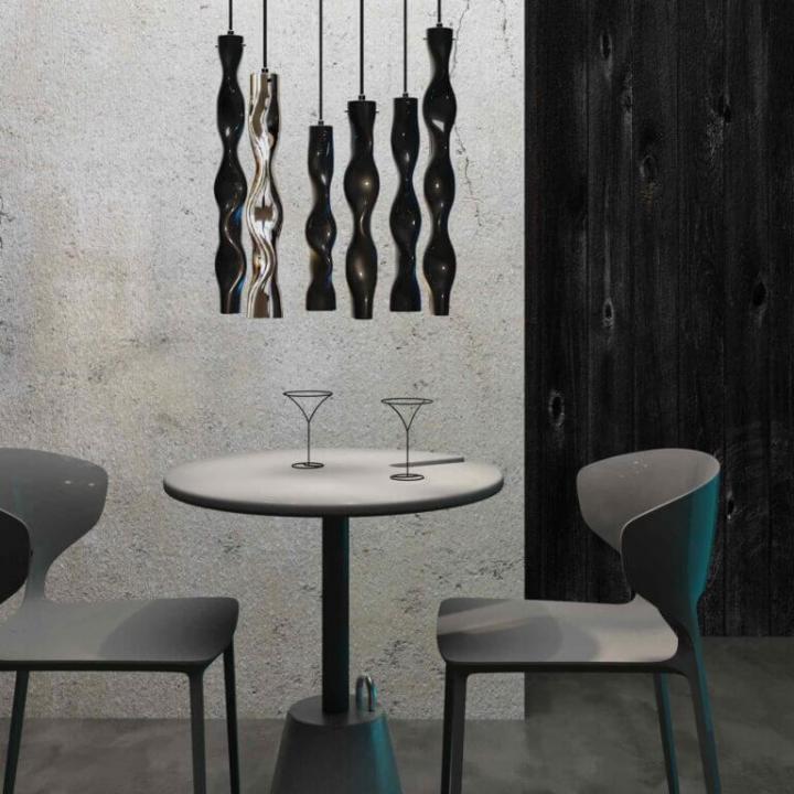 Люстра Ceramika Design WAVY SAPPHIRE 25075-20