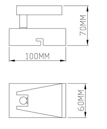 Бра Zuma Line SPAZIO CK99603A-1B