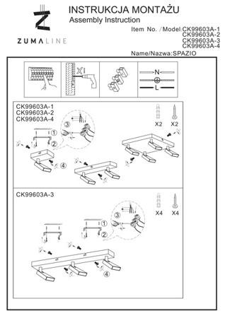 Стельовий світильник Zuma Line SPAZIO CK99603A-2B