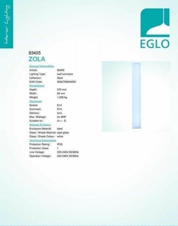 Бра Eglo ZOLA 83405