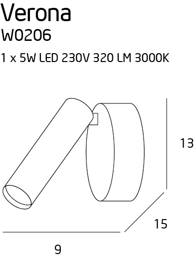 Бра Maxlight VERONA W0206