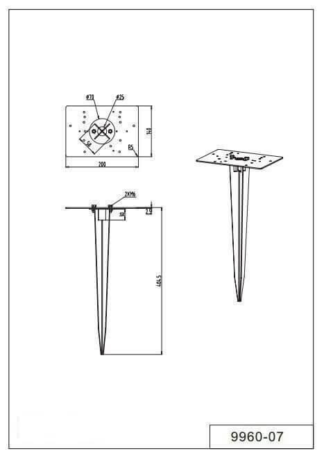 Кріплення для вуличний світильників TRIO 9960-07