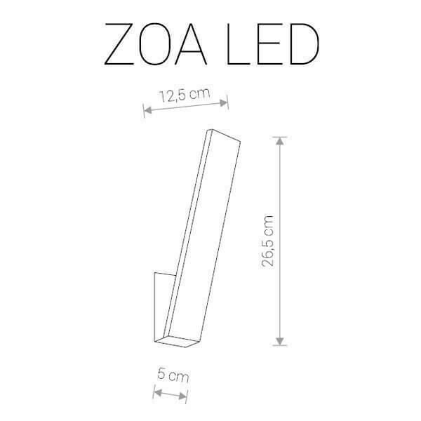 Настінний вуличний світильник Nowodvorski ZOA LED 9421