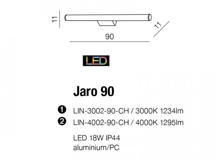 Бра AZzardo JARO 90 AZ2093 (LIN300290CH )