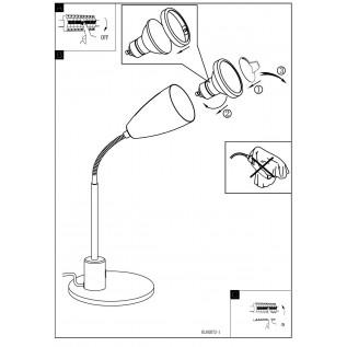 Настольная лампа Eglo FOX 92873