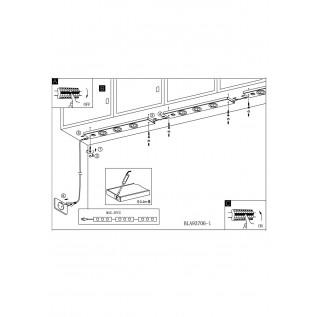 Мебельная подсветка Eglo KOB LED 93707