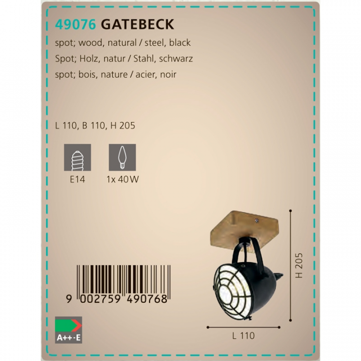 Бра Eglo GATEBECK 49076