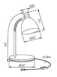 Настільна лампа Kanlux ZARA HR-40-SR 7560