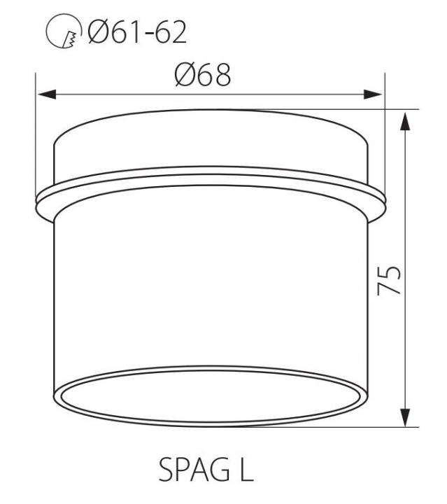 Точечный светильник Kanlux SPAG L W/G 27321
