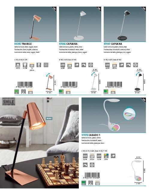 Настольная лампа Eglo CABADO 1 97078