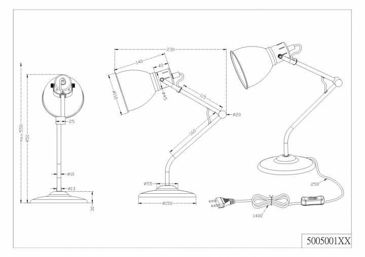 Настільна лампа TRIO JASPER 500500109