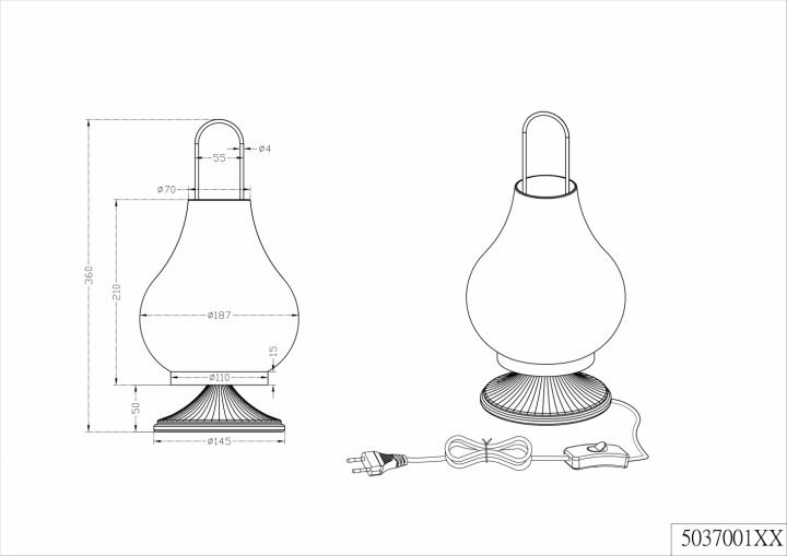 Настільна лампа TRIO JASMIN 503700161