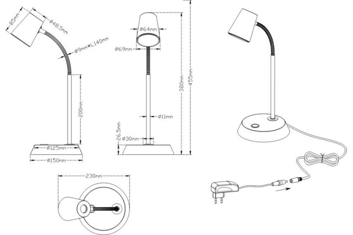 Настольная лампа TRIO NARCOS 573190131