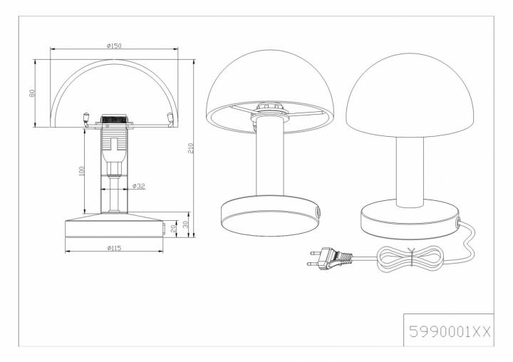Настільна лампа TRIO FYNN 599000124