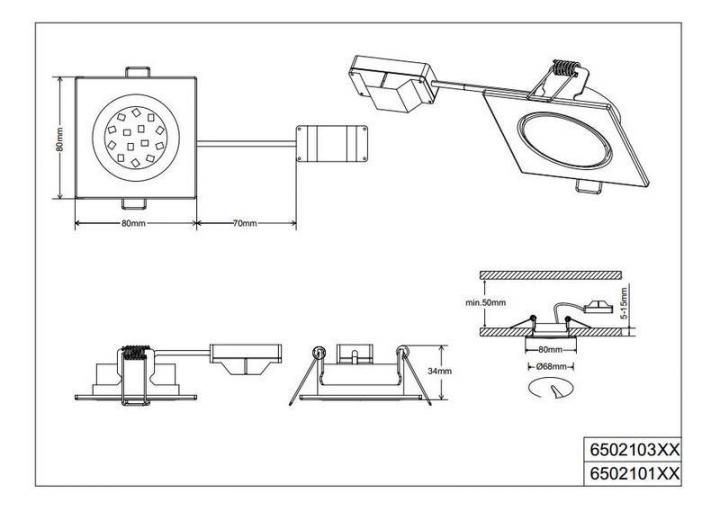 Точечный светильник TRIO Rila 650210131