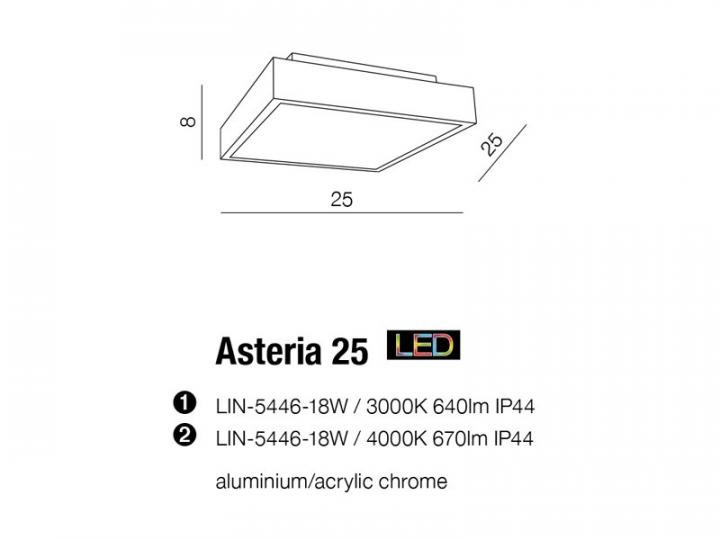 Потолочный светильник AZzardo ASTERIA 25 AZ2478 (LIN544618W4000 IP44)