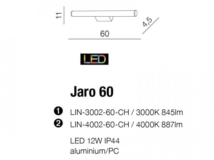 Бра AZzardo JARO 60 AZ2096 (LIN400260CH )