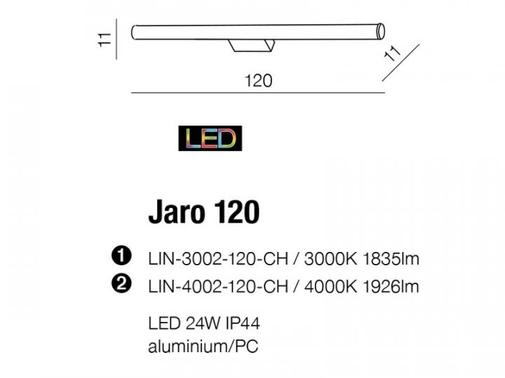 Бра AZzardo JARO 120 AZ2098 (LIN4002120CH )