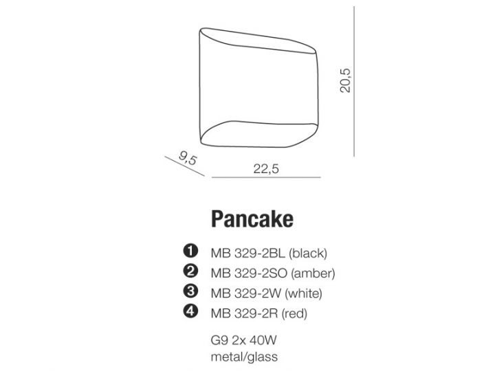 Бра AZzardo PANCAKE AZ0114 (MB3292WH)