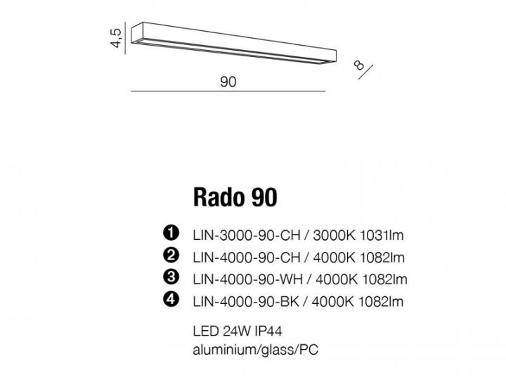 Бра AZzardo RADO 90 AZ2080 (LIN400090CH )
