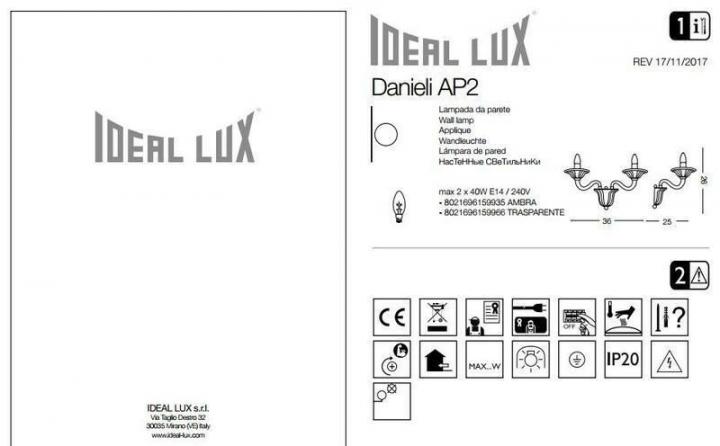 Бра Ideal Lux DANIELI 159966