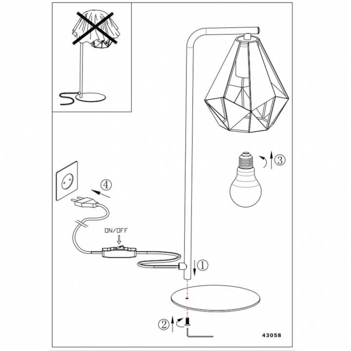 Настільна лампа Eglo CARLTON 4 43058